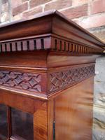 Chippendale Style Glazed Mahogany Bookcase (9 of 10)