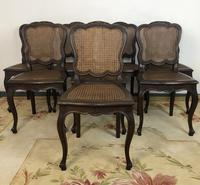 Antique French Set Of 8 Bergère Cane Dining Chairs (2 of 12)