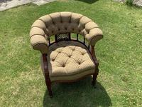 Late Mahogany Victorian Tub / Occasional Chair (2 of 4)