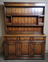 Titchmarsh & Goodwin Oak Dresser & Rack