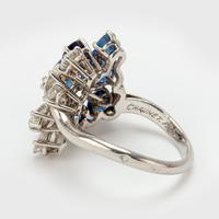 Vintage Chaumet 1.93 Carat Sapphire & 0.90 Carat Diamond Dress Ring c.1960 (8 of 9)