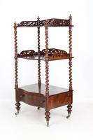 Antique Victorian 3 Tier Rosewood Whatnot (2 of 13)