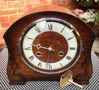 Fabulous Mid-1950's English Striking Mantle Clock by Anvil 'Perivale'