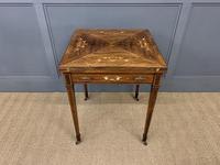 Inlaid Rosewood Envelope Card Table / Games Table