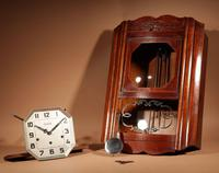 Art Deco Westminster Vedette Carillon Oak Wall Clock French c.1935 (4 of 13)
