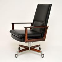 Danish Rosewood & Leather Desk Chair by Arne Vodder (6 of 13)