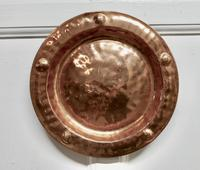 Pair of Arts & Crafts Beaten Copper Wall Plates by Lombard (5 of 5)