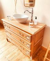 French Antique Style Washstand / Vanity / with Basin Sink (6 of 8)