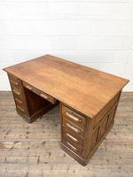 Antique Oak Pedestal Desk (9 of 10)