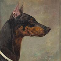 Wilhelm Westerop, Portrait of a Doberman, Oil Painting (5 of 10)