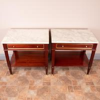 Pair of French Marble Topped Tables (10 of 14)