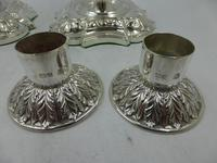 Pair of Antique Edwardian Silver Candlesticks Sheffield 1903 (5 of 8)