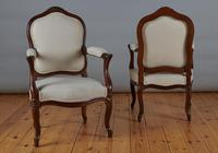 Pair of French Louis XV Style Walnut Armchairs (5 of 9)