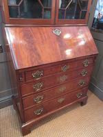 Fine George III Period Flame Mahogany Bureau Bookcase (3 of 9)