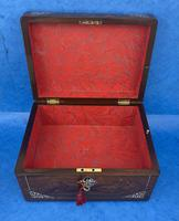 William IV Rosewood Jewellery Box Inlaid with Beautiful Mother of Pearl (14 of 14)
