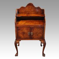 Matched Pair of Walnut Bedside Cabinets 1920's (5 of 8)