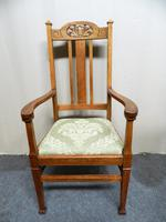 Set of 6 Oak Arts & Crafts Dining Chairs (3 of 7)