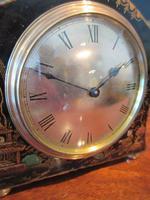 Small Edwardian Chinioserie Mantel Clock (2 of 8)