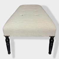 19th Century Footstool on Ebonised Legs (6 of 9)