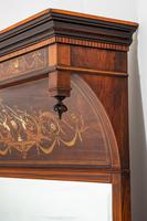 Stunning Rosewood Over Mantle Mirror (3 of 9)