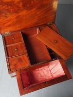 Unusual Biedermeier Inlaid Mahogany Work Box or Table (9 of 10)