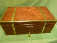 Exceptional FULLY Brass Bound Amboyna Writing Box c.1850 (14 of 15)