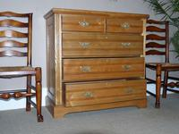 Edwardian Ash Chest of Drawers (6 of 7)