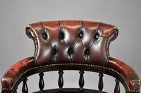Ox Blood Leather Office Chair (6 of 10)