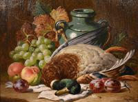 """Oil Painting Pair by Charles Thomas Bale """"Fruit and Game Larder Scenes"""" (7 of 10)"""