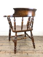 Antique 19th Century Ash & Elm Smokers Bow Chair (6 of 12)