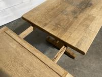 Huge Oak Farmhouse Dining Table with Extensions (6 of 24)