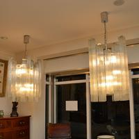 Pair of Large Vintage 1960's Glass Chandeliers by Doria Leuchten (11 of 11)