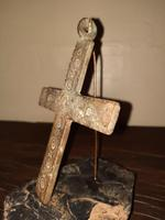 12th Century Medieval Bronze Crusader Knights Large Pectoral Cross (7 of 13)