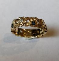 Franklin Mint 14ct Gold Eternity Ring Sapphires and Diamonds (5 of 8)