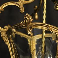 Italian Gilded Bronze Four Light Lantern (5 of 10)