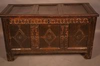 17th Century Oak Coffer Large