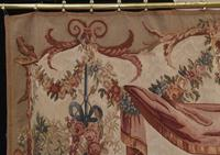 Antique French Tapestry Classical Courtly Love Romance c.1860 (5 of 17)