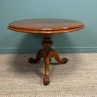 Spectacular Mahogany Small Victorian Circular Antique Dining Table (3 of 8)