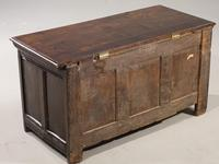 A Well Carved Early 18th Century Three Panelled Coffer (3 of 3)