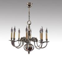 Georgian Style Silver Plated Chandelier c.1920 (2 of 5)