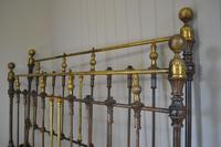 Victorian Brass & Iron King Size 5ft Antique Bed Frame - Fully Restored in Your Choice of Colour (2 of 15)