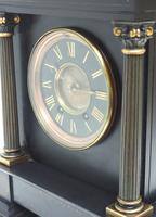 Amazing French Slate 8 Day Striking Heavy Quality Mantle Clock (7 of 12)