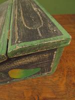 Shabby Chic Folk Art Painted Writing Slope Box with Fruit, Recipe Storage (13 of 14)