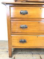 Antique Satin Walnut Dressing Table with Mirrors (8 of 10)