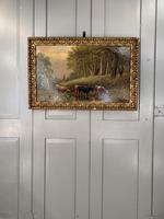 Antique 19th Century British River Landscape Oil Painting of Cows Cattle Signed JD Morris '1 of 2' (10 of 10)