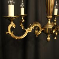 French Gilded Bronze 5 Light Chandelier (2 of 7)