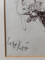 Original Ink Drawing 'Group of Nudes, Rooster & Dandelion' Signed & Dated 1967 (5 of 6)
