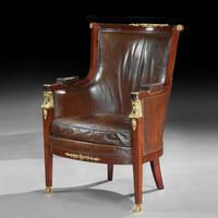 Pair of 19th Century Gilt Bronze Mounted Moroccan Leathered Armchairs, Maison Lalande (4 of 6)