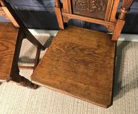 Pair of Victorian Oak Hall Chairs (11 of 17)