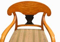 Pair of Biedermeier Armchairs Swedish Satin Birch Furniture c.1910 (4 of 10)